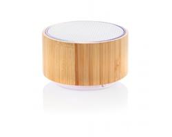 Bambusový Bluetooth reproduktor THIONATE s barevným LED podsvícením - hnědá