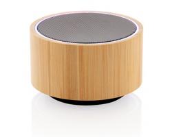 Bambusový Bluetooth reproduktor THIONATE s barevným LED podsvícením - černá