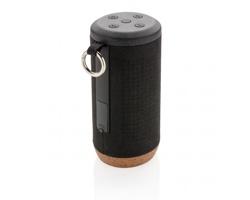 Bezdrátový bluetooth reproduktor AVOW z voděodolné tkaniny v EKO balení - černá