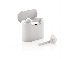 Bezdrátová sluchátka WATTLING s dobíjecí krabičkou - bílá