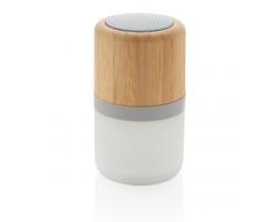 Bambusový reproduktor PEENS s proměnlivým světlem - bílá