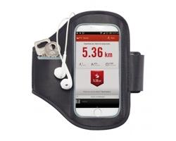 Neoprenové sportovní pouzdro na chytrý telefon RATES pro připevnění k paži - černá