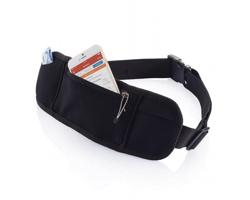 Neoprenové cestovní pouzdro na doklady CADS s kapsou na zip - černá