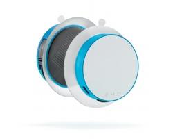 Solární nabíječka SUNPOW s USB portem, 1000 mAh - tyrkysová / bílá
