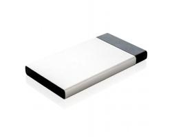 Mimořádně tenká powerbanka BOAT pro nabíjení až 2 zařízení současně - stříbrná