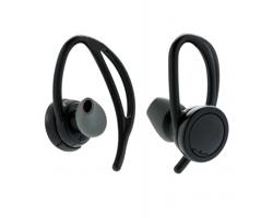 Plastová bezdrátová sluchátka pecky FAUNLIKE s klipy za uši - černá