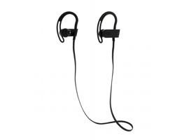 Bezdrátová sluchátka typu pecky JELLY s klipy za uši - černá