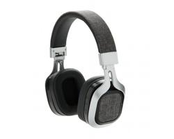 Textilní bezdrátová hlavová sluchátka CAUDATED - šedá