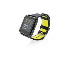 Chytré sportovní hodinky OFFS se silikonovým řemínkem, 9 funkcí - černá