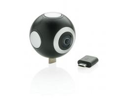 Plastový HD fotoaparát BRAMWELL pro chytré telefony a tablety - černá