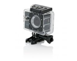 Nejmodernější HD sportovní kamera LEVIS s LCD displejem, 11 komponentů - černá / černá