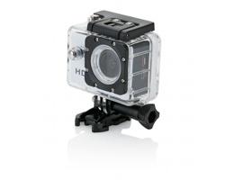 Nejmodernější HD sportovní kamera LEVIS s LCD displejem, 11 komponentů - bílá / černá