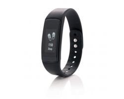 Silikonový sportovní náramek OFFENSES s vodotěsnou dotykovou obrazovkou - černá
