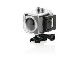 Sportovní kamera MUSKS s LCD obrazovkou, 19 komponentů - černá
