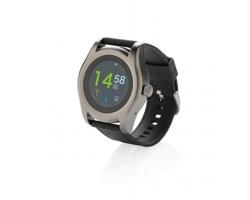 Značkové chytré hodinky Swiss Peak BRUIT s kulatým ciferníkem - černá