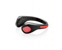 Bezpečnostní svítící klip na botu FIRST s krokoměrem - černá