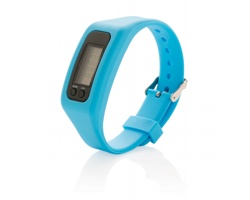 Silikonový sportovní náramek PERI s krokoměrem - modrá