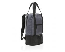 Polyesterový batoh YOGI s chladicím prostorem - šedá
