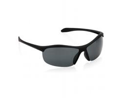 Značkové sluneční brýle Swiss Peak ANTHRONE v odolném pouzdře na zip - černá