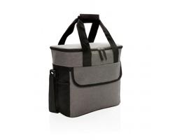Polyesterová velká chladicí taška PRANCES s kapacitou až 20 plechovek - šedá / černá