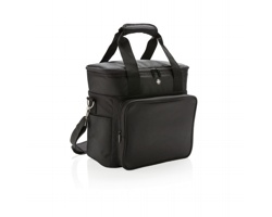 Značková chladicí taška Swiss Peak COOLER, kapacita až 20 plechovek - černá / šedá