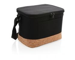 Polyesterová chladicí taška JEANNE s korkovým dnem - černá
