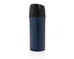 Kovový termohrnek KAPPA s uzamykatelným víčkem, 300 ml - modrá