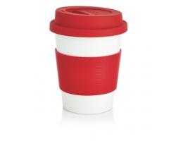 Cestovní hrnek BIOG z ekologického materiálu - červená