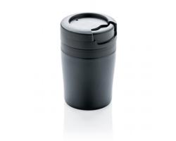 Nerezový cestovní espresso hrnek SIMONS, 160 ml - černá
