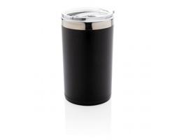 Plastový termohrnek VILLE s podsvíceným gravírováním - černá