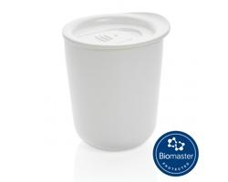 Plastový termohrnek CARED s antimikrobiální ochranou, 250 ml - bílá