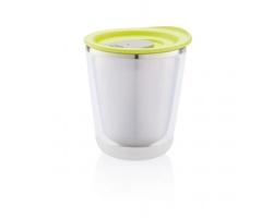 Nerezový termohrnek na espresso SUMO, 227 ml - zelená / šedá