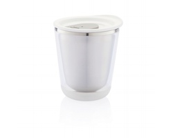 Nerezový termohrnek na espresso SUMO, 227 ml - bílá / šedá