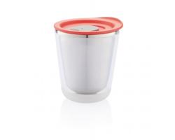 Nerezový termohrnek na espresso SUMO, 227 ml - červená