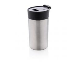 Nerezový dvouplášťový hrnek PANACEA, 300 ml - stříbrná