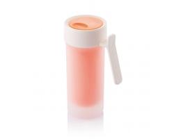 Plastový dvouplášťový hrnek PLANE, 275 ml - oranžová
