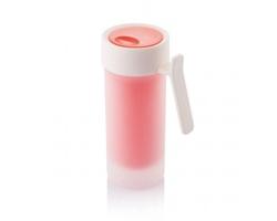 Plastový dvouplášťový hrnek PLANE, 275 ml - červená