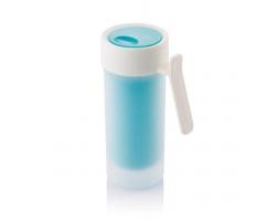 Plastový dvouplášťový hrnek PLANE, 275 ml - tyrkysová