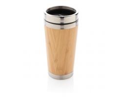 Nerezovo bambusový termohrnek SCARS, 450 ml - hnědá