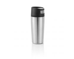 Nerezový cestovní hrnek ESTA, 300ml - stříbrná / černá