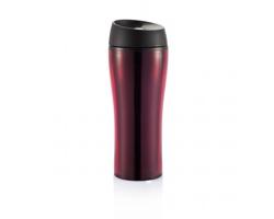 Plastový cestovní  hrnek TEXIS, 450ml - červená