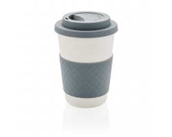 Ekologický kávový šálek CHILLIER z bambusu, 270 ml - šedá