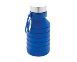 Silikonová skládací lahev HIGDON s karabinou, 500 ml - modrá
