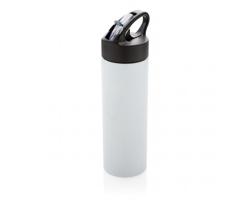 Nerezová sportovní láhev CONG s brčkem, 500ml - bílá