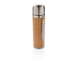 Bambusová cestovní termoska FINK, 400 ml - hnědá