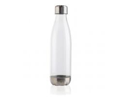 Plastová lahev s nerezovým uzávěrem IDEES, 500 ml - transparentní