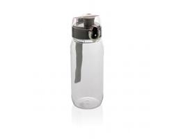 Lahev na pití JOAQUIN s uzamykatelným uzávěrem, 600 ml - transparentní