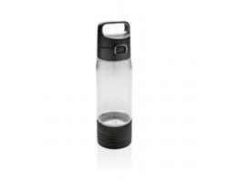 Tritanová láhev na pití SNOB s integrovanou bezdrátovou powerbankou, 600 ml - transparentní