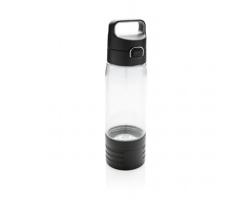 Tritanová láhev FLAYER s bezdrátovými sluchátky, 600 ml - transparentní