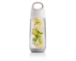 Tritanová láhev na pití SAPREMIC s infuzérem na ovoce, 650 ml - bílá / šedá